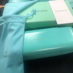 Tiffany & Co. eyeglass case, pouch,box, card,cloth